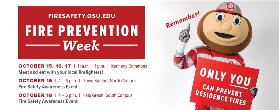 Fire Prevention Week: October 15-19, 2018